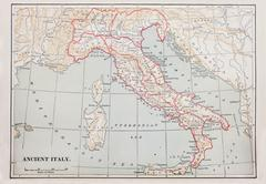 Ancient italy map Stock Photos