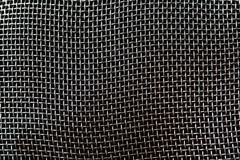 silver mesh background - stock photo