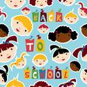 Multi-racial education pattern Stock Illustration