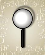 MAGNIFYING GIASS - stock photo