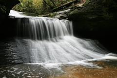creation waterfall - stock photo