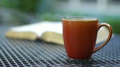 Coffee & Bible Stock Footage