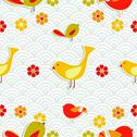 Stock Illustration of fresh floral season pattern