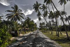 Bentota, Railway, Sri Lanka, HDR - stock photo