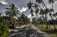 Stock Photo of Bentota, Railway, Sri Lanka, HDR