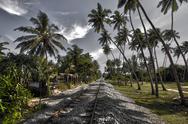 Bentota, Railway, Sri Lanka, HDR Stock Photos