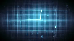 Blue ECG on moving digital background Stock Footage