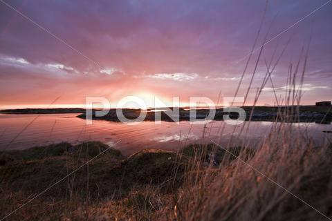 Stock photo of Sunset, Nothern Norway, Foreground