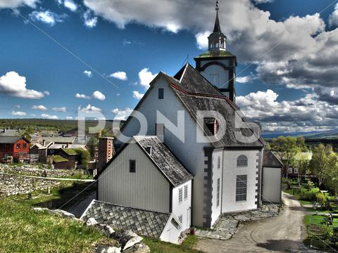 Stock photo of Church, Røros, Norway