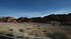 Red Rock Canyon Driving Shot Stock Footage