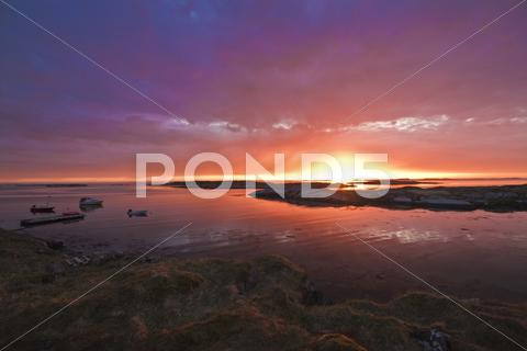 Stock photo of Dramatic Sunset, Northern Norway