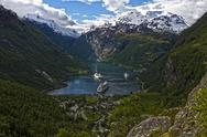 Geiranger Fjord, Norway, Sogn Og Fjordane Stock Photos