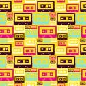 Stock Illustration of retro pop audio tapes pattern