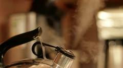 Tea Kettle - Steaming! Stock Footage