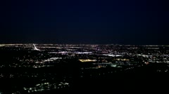 Beautiful night view of Denver / Golden Colorado from mountains - stock footage