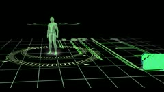 Revolving human figure with copyspaces Stock Footage