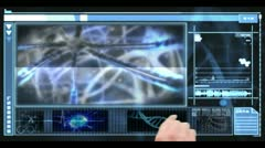 Hand using digital medical interface Stock Footage