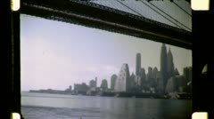 BROOKLYN BRIDGE Manhattan NYC Georgetown 1950s Vintage Film Home Movie 4769 Stock Footage