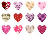 Trendy hearts pattern. isolated on white Stock Illustration