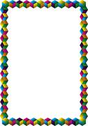 Stock Illustration of multicolored cubes frame