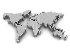 International map Stock Illustration