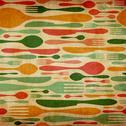 Retro cutlery pattern background Stock Illustration