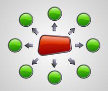 gloss marketing diagram - stock illustration