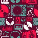 Stock Illustration of music icons seamless pattern