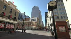 Calgary, Stephen Ave mall very wide shot Stock Footage