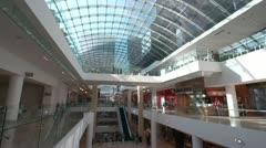 Glass roofed mall, interior, wide shot, rather generic Stock Footage