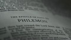 Bible-Philemon - stock footage