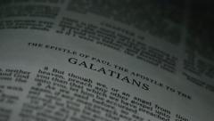 Bible-Galatians - stock footage