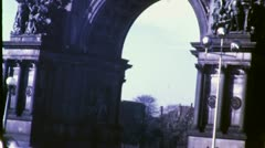 GRAND ARMY PLAZA Arch Brooklyn Flatbush 1940s (Vintage Film Home Movie) 4778 Stock Footage