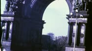 GRAND ARMY PLAZA Arch Brooklyn Flatbush 1940s (Vintage Film Home Movie) 4778 Stock Footage