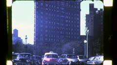 FLATIRON SKYSCRAPER Building NYC 1940s (Vintage Retro Film Home Movie) 4779 Stock Footage