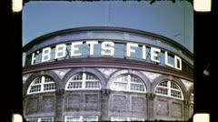 EBBETS FIELD Baseball Stadium NYC 1940s (Vintage 16mm Film Home Movie) 4781 - stock footage