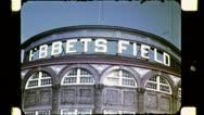 EBBETS FIELD Baseball Stadium NYC 1940s (Vintage 16mm Film Home Movie) 4781 Stock Footage