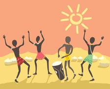 African party Stock Illustration