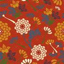 Oriental flowers seamless pattern Stock Illustration
