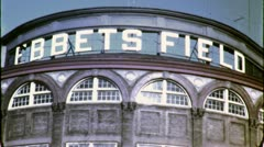 EBBETS FIELD Baseball Stadium NYC 1940s Vintage 16mm Film Home Movie 4783 - stock footage