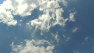 Stock Video Footage of Blue sky with clouds 4