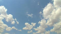 Blue sky with clouds 7 Stock Footage