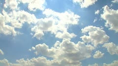 Blue sky with clouds 8 Stock Footage
