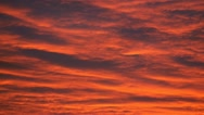 Evening red cloudy sky (real time) Stock Footage