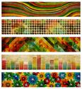 Set of abstract retro backgrounds Stock Illustration