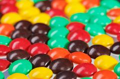 multicolor bonbon sweets (ball candies) food background, closeup view - stock photo