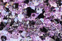 Small purple gem stones, luxury background shallow depth of field Stock Photos