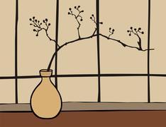 Oriental zen decoration Stock Illustration