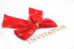 invitation - stock photo
