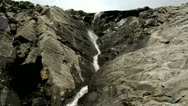 Stock Video Footage of Tuckerman's Ravine Waterfalls